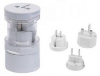 Универсальный адаптер Multiple socket adapter without USB slot White