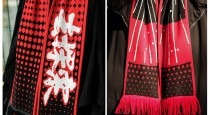 Шарф шерстяной Mi Scarf Black/Red 1164200035