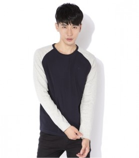 Реглан Mi Raglan long-sleeved T-shirt male models Blue/Grey XL