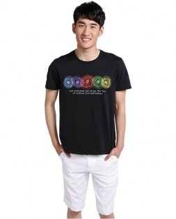 Футболка Mi T-shirt multicolored ring Black  XXL 1161000034