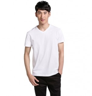 Футболка Mi V-neck T-shirt men White L 1151400026