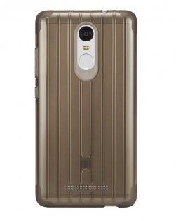 Чехол бампер силиконовый Xiaomi Silicon Case Non-slip for Redmi Note 3 Brown 1154800030
