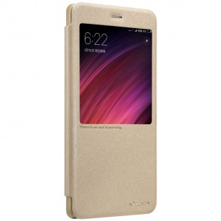 Чехол книжка Nillkin Sparkle Leather XIAOMI RedMi Note 4X Gold SP-LC HM-NOTE 4X