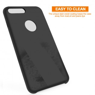 Чехол накладка Liquid Silicone Magnetic Plug iPhone 7 Black