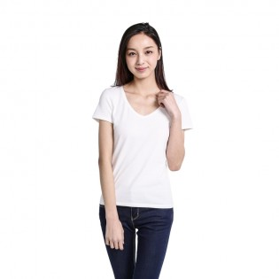 Футболка Mi V-neck T-shirt Women White L 1161000025