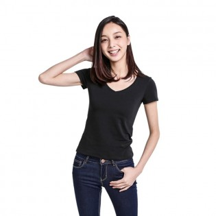 Футболка Mi V-neck T-shirt Women Black S 1161000026