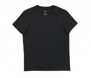 Футболка Mi V-neck short sleeve T-shirt male Black S 1170800041