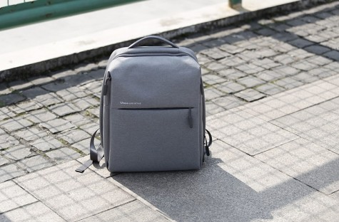 Mi minimalist urban Backpack Light Gray