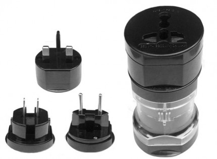 Универсальный адаптер Multiple socket adapter without USB slot Black