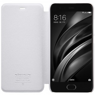 Чехол книжка Nillkin Sparkle Leather SP-LC XM для смартфонов Xiaomi Mi 6 White