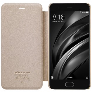 Чехол книжка Nillkin Sparkle Leather SP-LC XM для смартфонов Xiaomi Mi 6 Gold