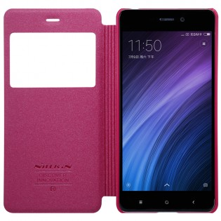Чехол книжка Nillkin Sparkle Leather XIAOMI RedMi 4 Red SP-LC REDMI 4