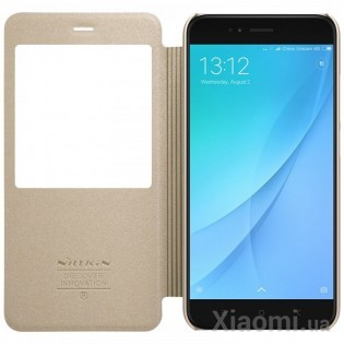Чехол книжка Nillkin Sparkle Leather XIAOMI Mi 5X/A1 SP-LC XM-5X Gold