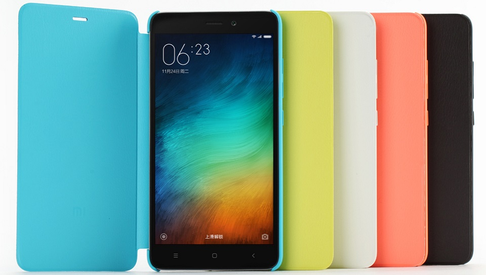 Чехол книжка Сolorful Protective Case Xiaomi Mi Note 3 ORIGINAL в пяти цветах