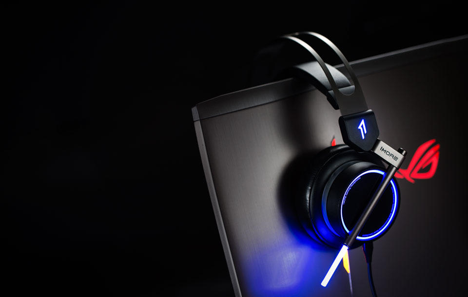 1MORE Spearhead VRX Gaming Headphones супер подсветка