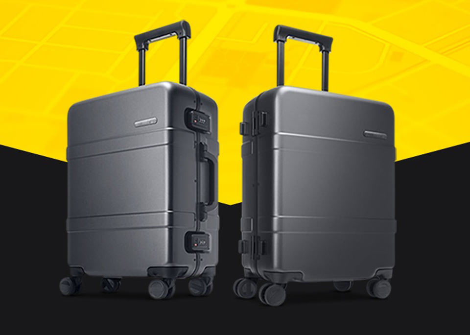 90 points classic aluminum box suitcase чемодан