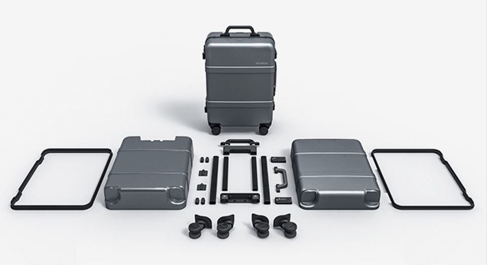 90 points classic aluminum box suitcase структура
