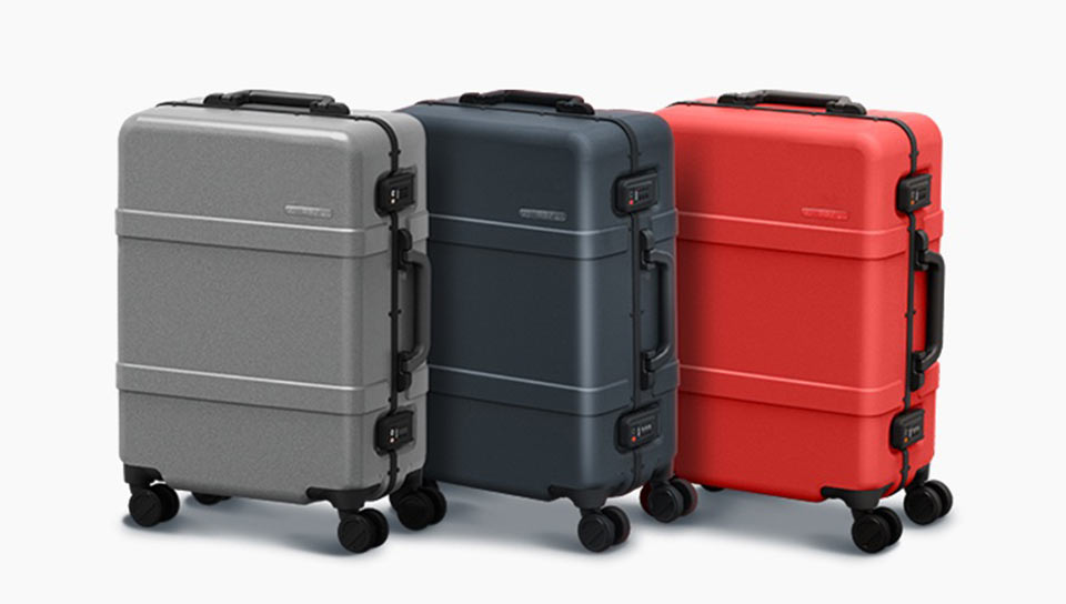 90 points classic aluminum box suitcase разные цвета