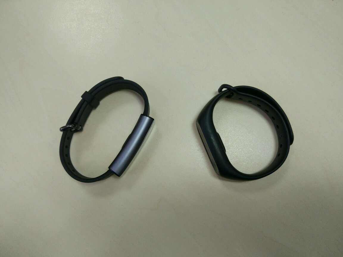 Amazfit Arc vs Mi Band 2  дизайн
