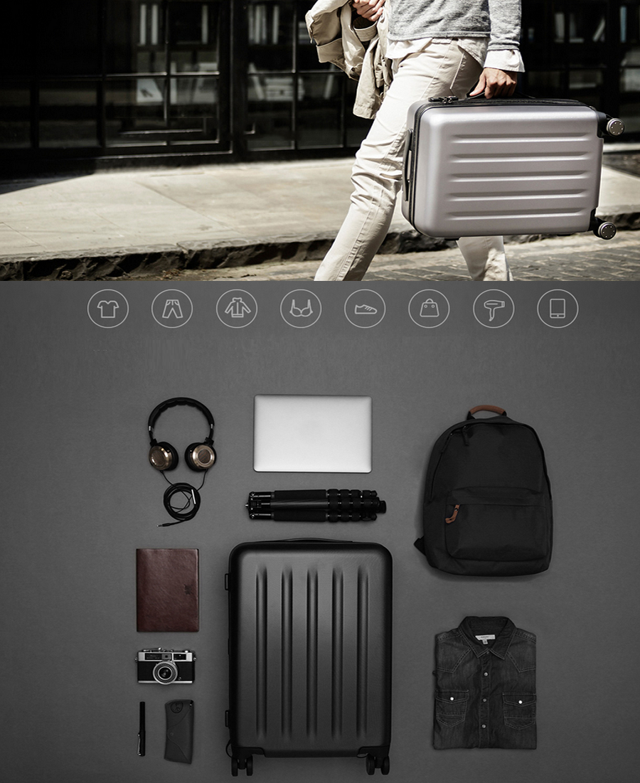Чемодан Xiaomi 90 Points Suitcase Dark Grey Magic Night 28'' детали