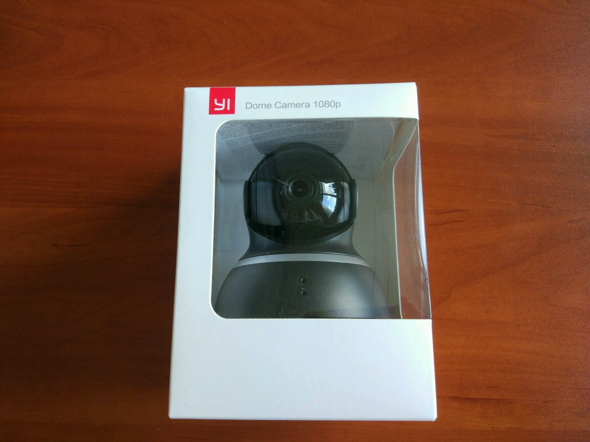 YI Dome 360° Black 1080P коробка