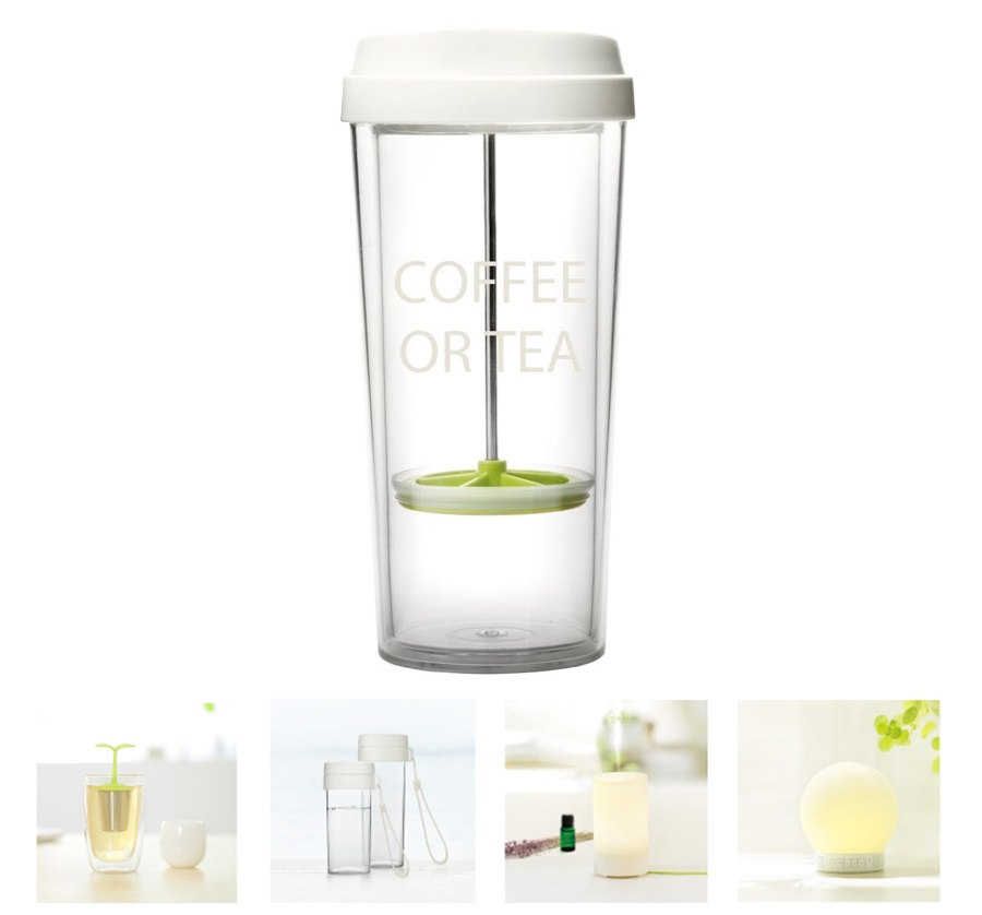 Стакан coffee or tea Emoi H1097 White/Green 480 мл элементы конструкции