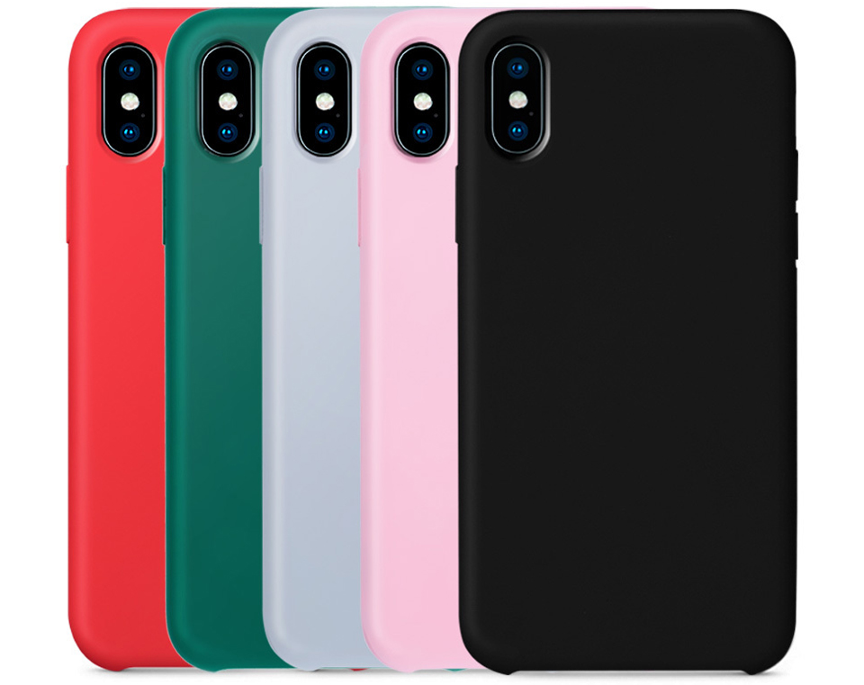 Чехол накладка Guildford Liquid Silicone Magnetic Plug iPhone X 5 расцветок
