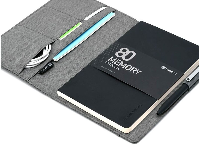 KACO-Classic-Business-Set-Memory-Alio-Notebook+Multi-Function-Bag-grey