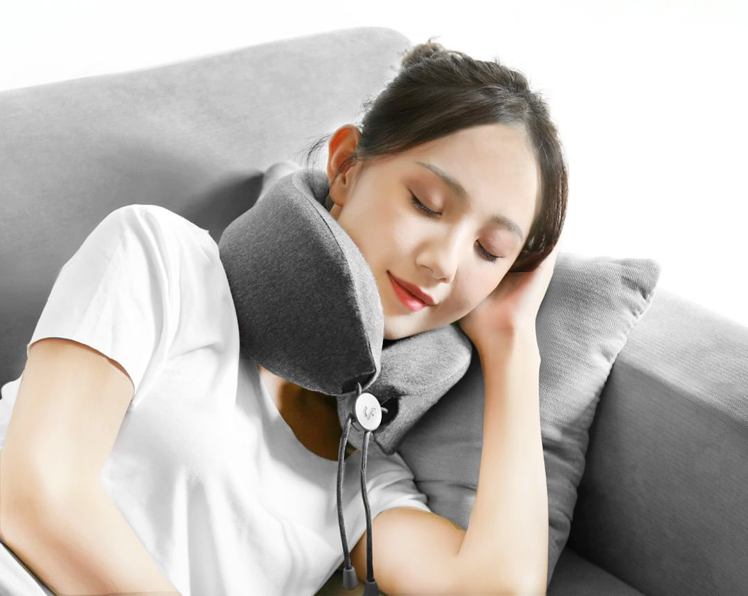 LF-Massage-sleep-neck-pillow-Gray