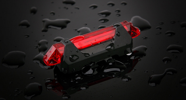 LED lights Rechargeable Bike Red влага