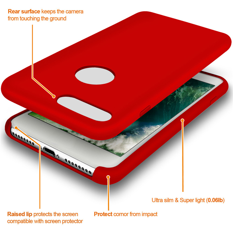 Liquid Silicone Magnetic Plug iPhone 7 red