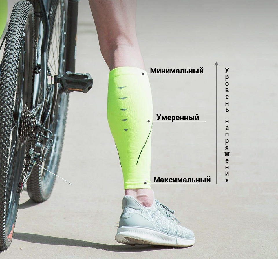 Гетры спортивные MITOWN Sports compression calf sets езда на велосипеде