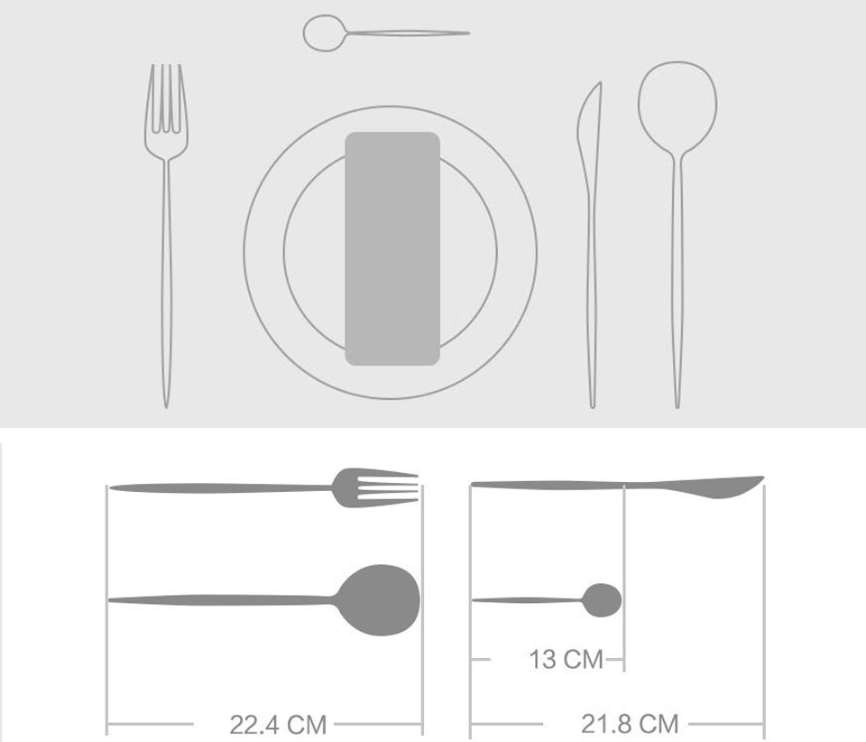 MaisonMaxx Stainless Steel Modern Flatware Set