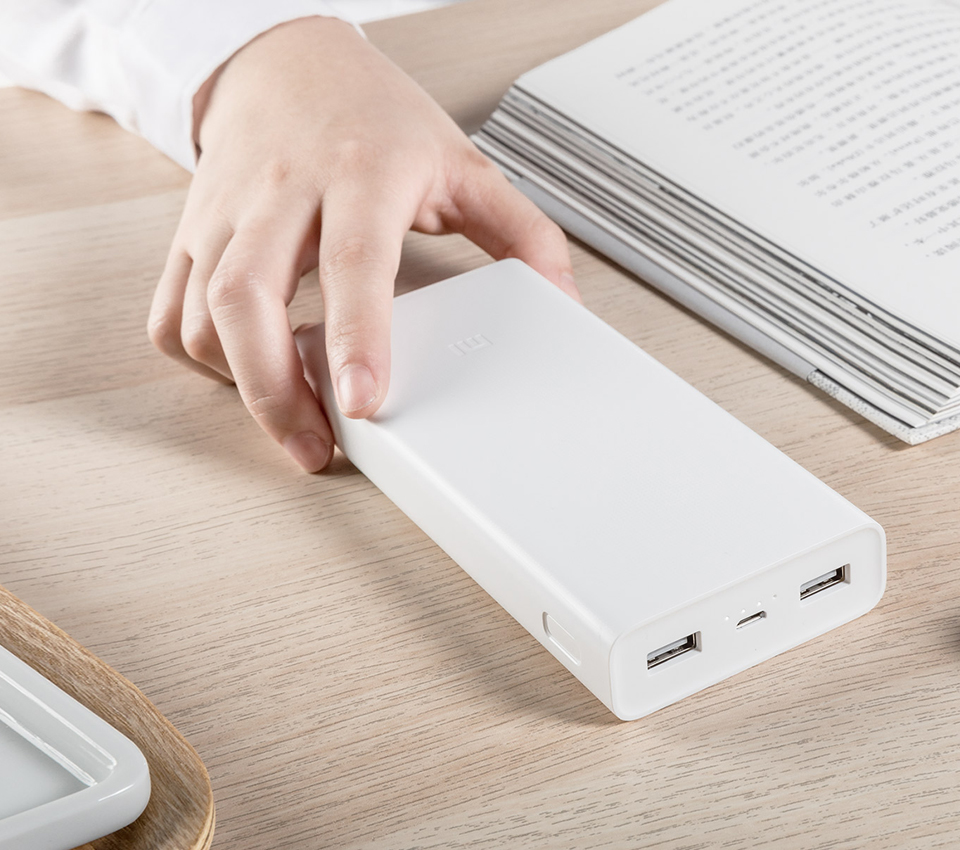 Универсальная батарея Xiaomi Mi power bank 2C 20000mAh White ORIGINAL утонченный дизайн