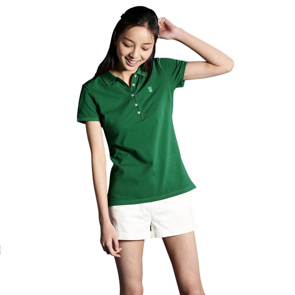 Mi solid POLO Shirt Women Green основной