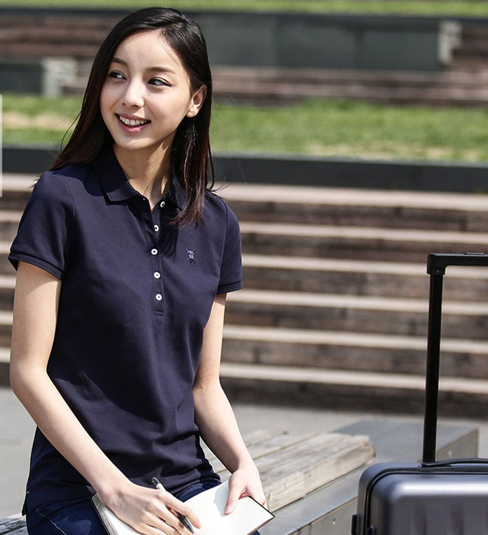 Mi solid POLO Shirt Women Violet девушка