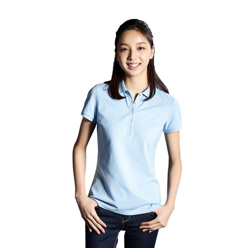 Mi solid POLO Shirt Women Blue девушка