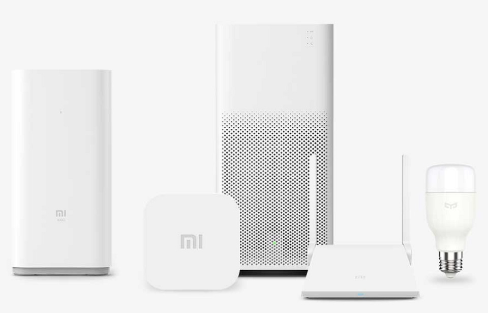 Mi Smart Home Multifunction Gateway 2 и Mi очиститель воздуха
