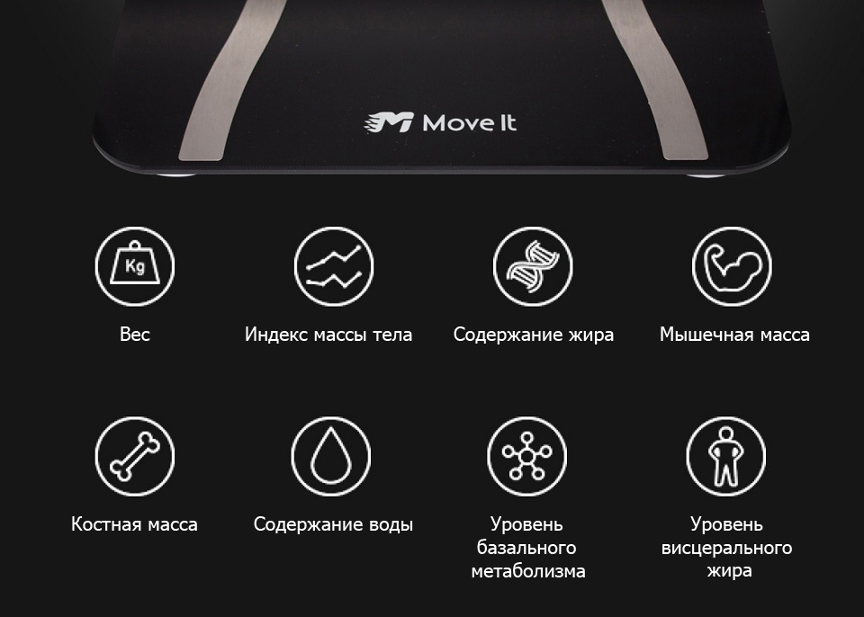 Весы Move It Smart Scale Black 8 показателей