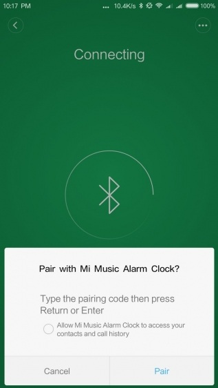 Mi Music Alarm Clock настройка