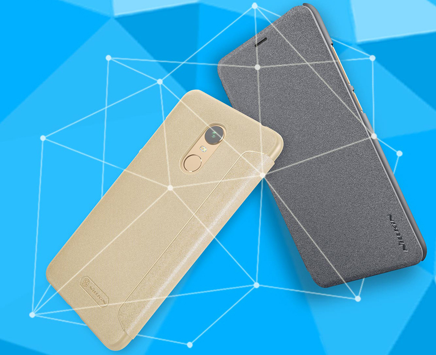 Чехол книжка Nillkin Sparkle Leather Case SP-LC Xiaomi Redmi 5 Plus крупным планом