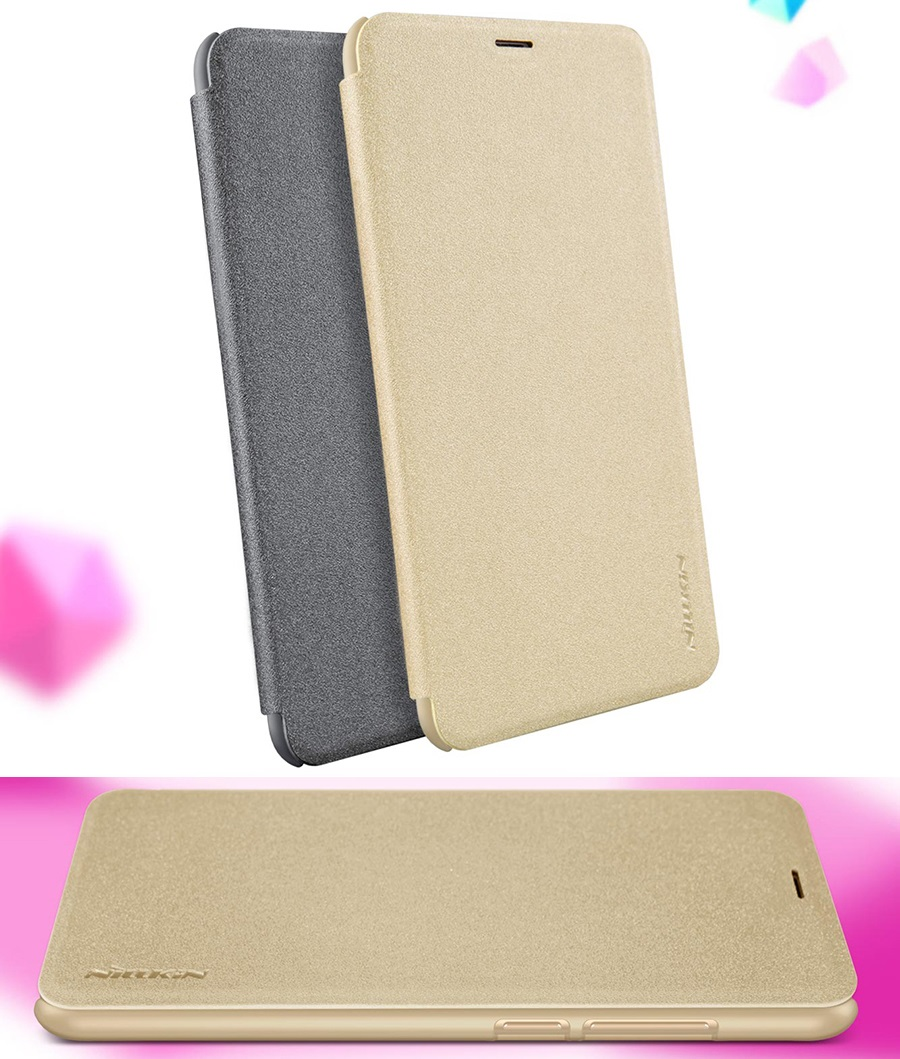 Чехол книжка Nillkin Sparkle Leather Case SP-LC Xiaomi Redmi 5 Plus в разных ракурсах
