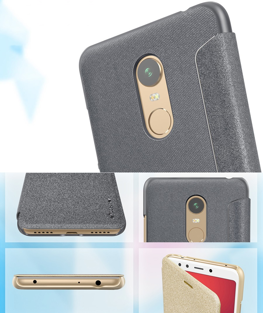 Чехол книжка Nillkin Sparkle Leather Case SP-LC Xiaomi Redmi 5 Plus вырезы под разъемы