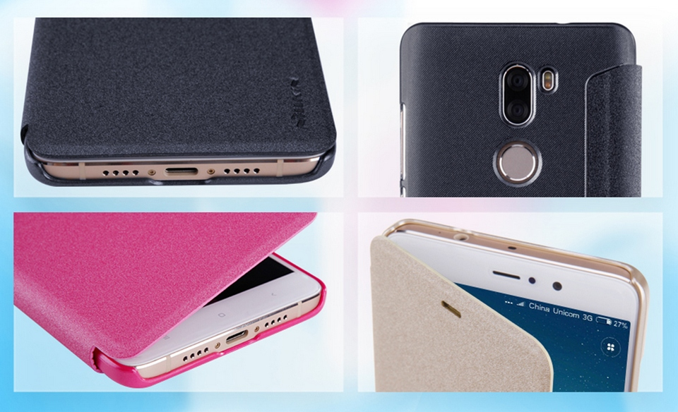 Nillkin Sparkle Leather XIAOMI Red 5S Plus Q-LC XM-5S PLUS