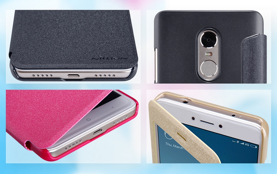 Nillkin Sparkle Leather XIAOMI RedMi Note 4X Gold SP-LC HM-NOTE 4X