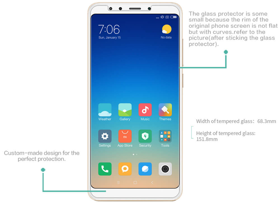 Защитное стекло Nillkin H Anti-Explosion Glass Screen Protector Xiaomi Redmi 5 Plus характеристики