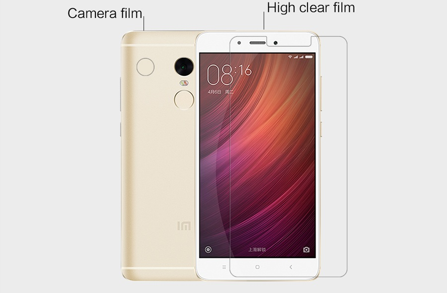 Защитная пленка Nillkin RedMi Note 4X Super Clear Anti-fingerprint Print вырезы