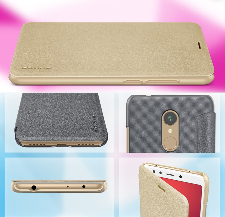 Чехол книжка Nillkin Sparkle Leather Case SP-LC Xiaomi Redmi 5 вырезы под другие разъемы