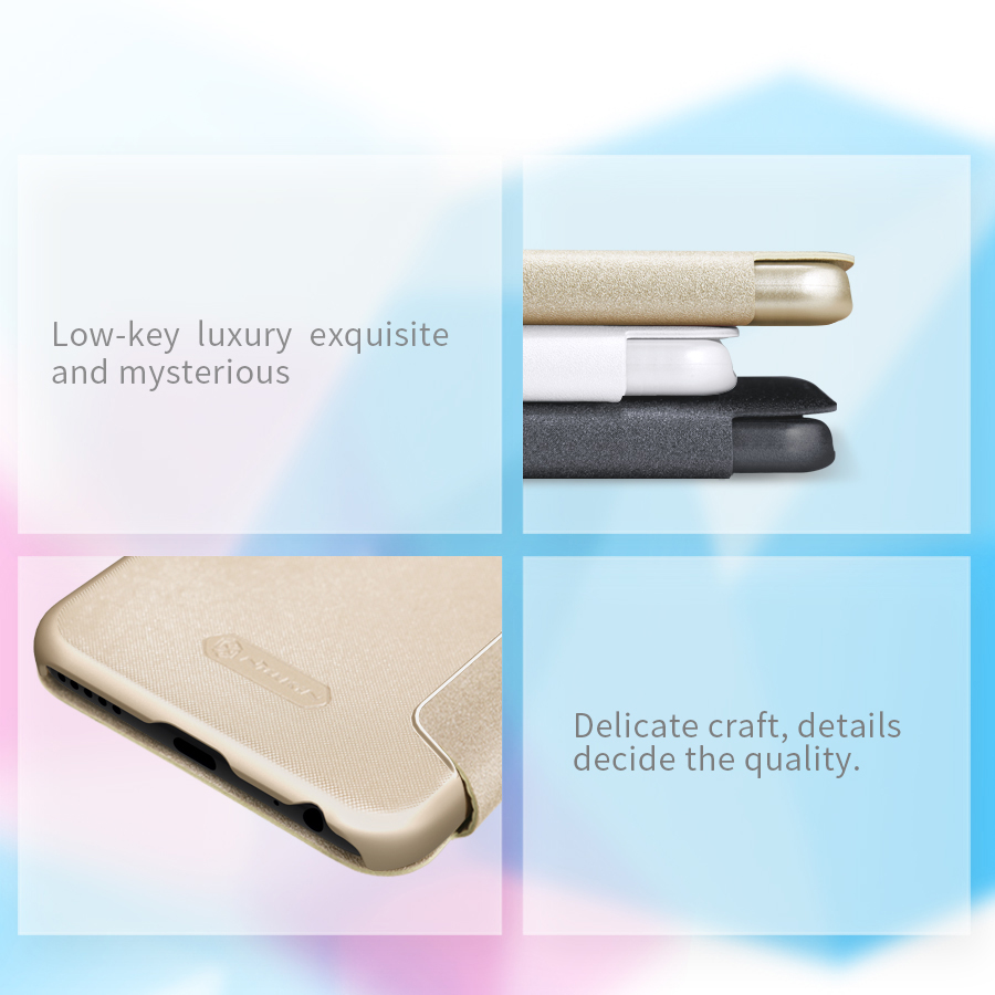 Чехол книжка Nillkin Sparkle Leather XIAOMI Mi 5X Gray SP-LC XM-5X грани