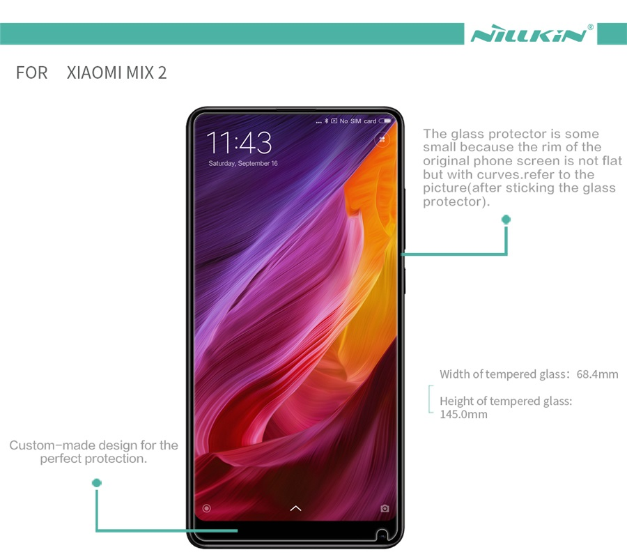 Закаленное стекло Nillkin for XIAOMI Mi MIX 2 H+PRO Anti-Explosion Glass H+PRO-SP XM-MIX 2 характеристики
